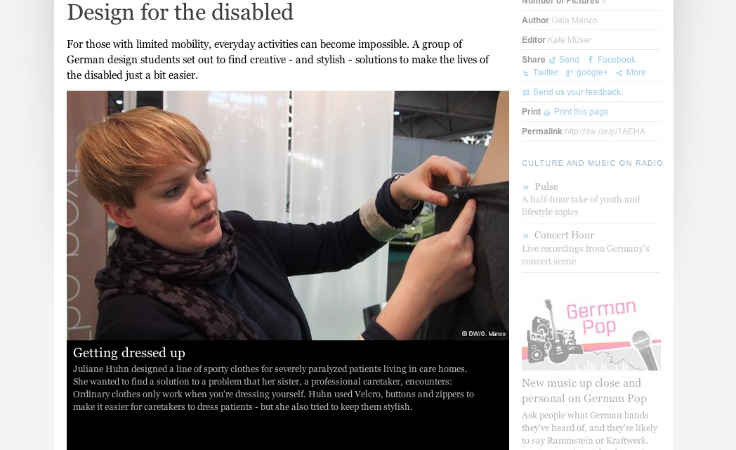 The next generation project: design for the disabled