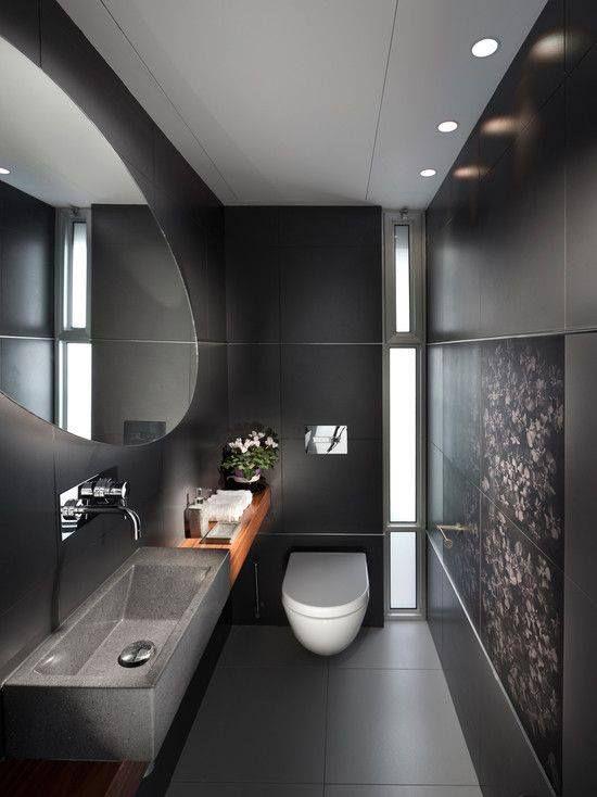 comearredare un bagno moderno grigio scuro