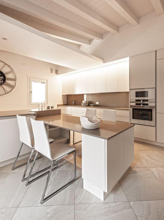 Come arredare una cucina moderna bianca 100 immagini