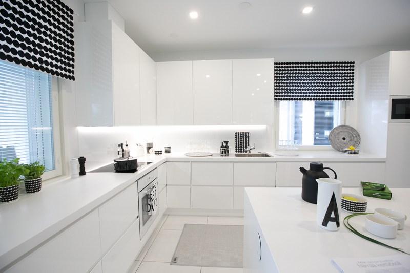 Cucina Bianca Lucida E Top Nero.Come Arredare Una Cucina Moderna Bianca 100 Immagini Mozzafiato