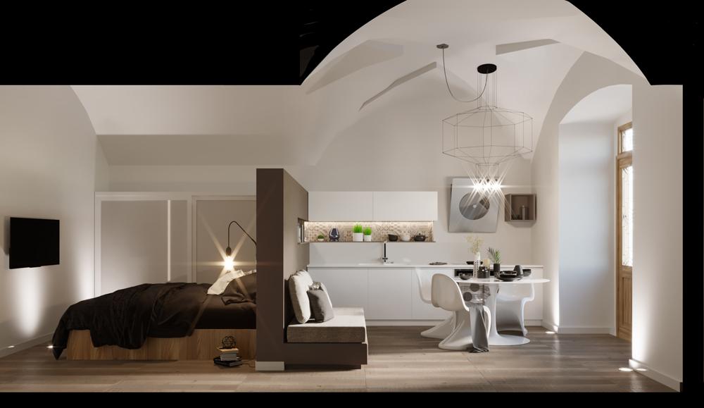 Camera Ospiti Per Vano Cucina : Come dividere una stanza in due: soluzioni per separare spazi senza muri