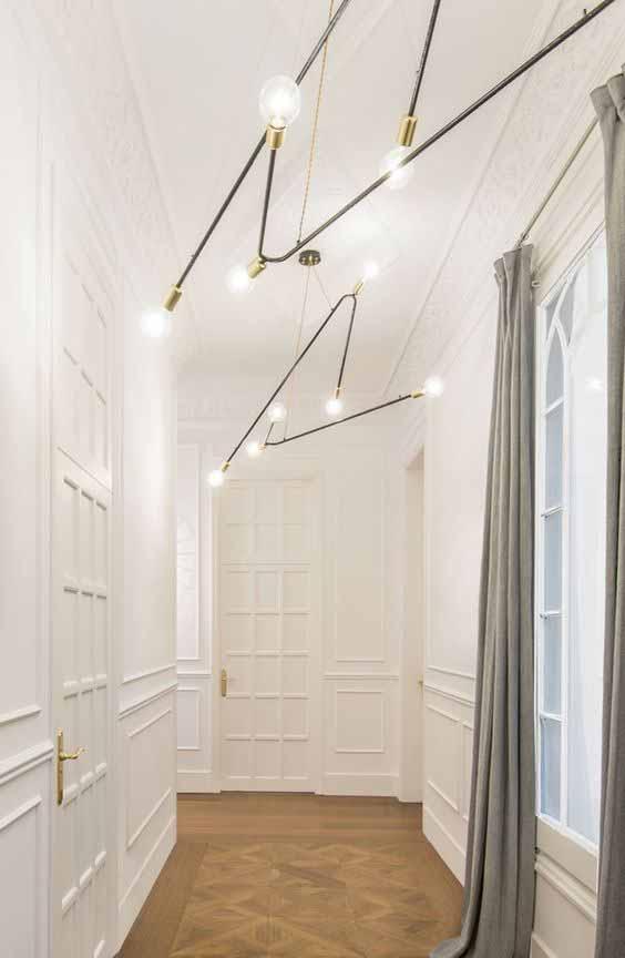 arredare il corridoio con un lampadario