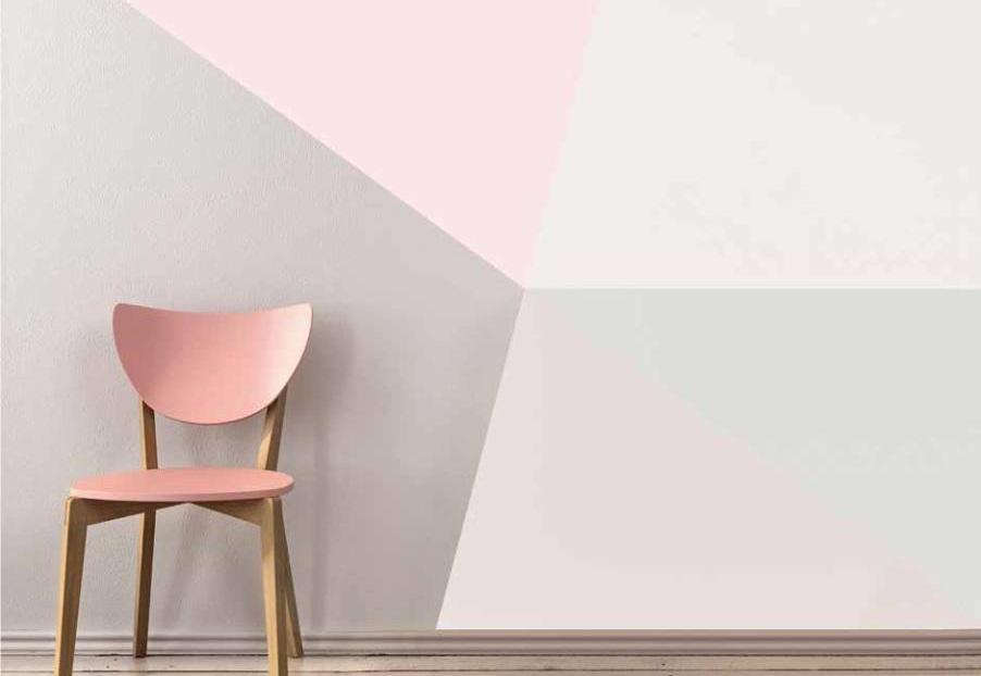Colori pitture per pareti e effetto irregolare geometrico