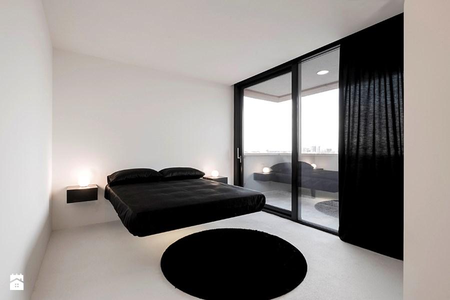 Camera da letto moderna con letto sospeso