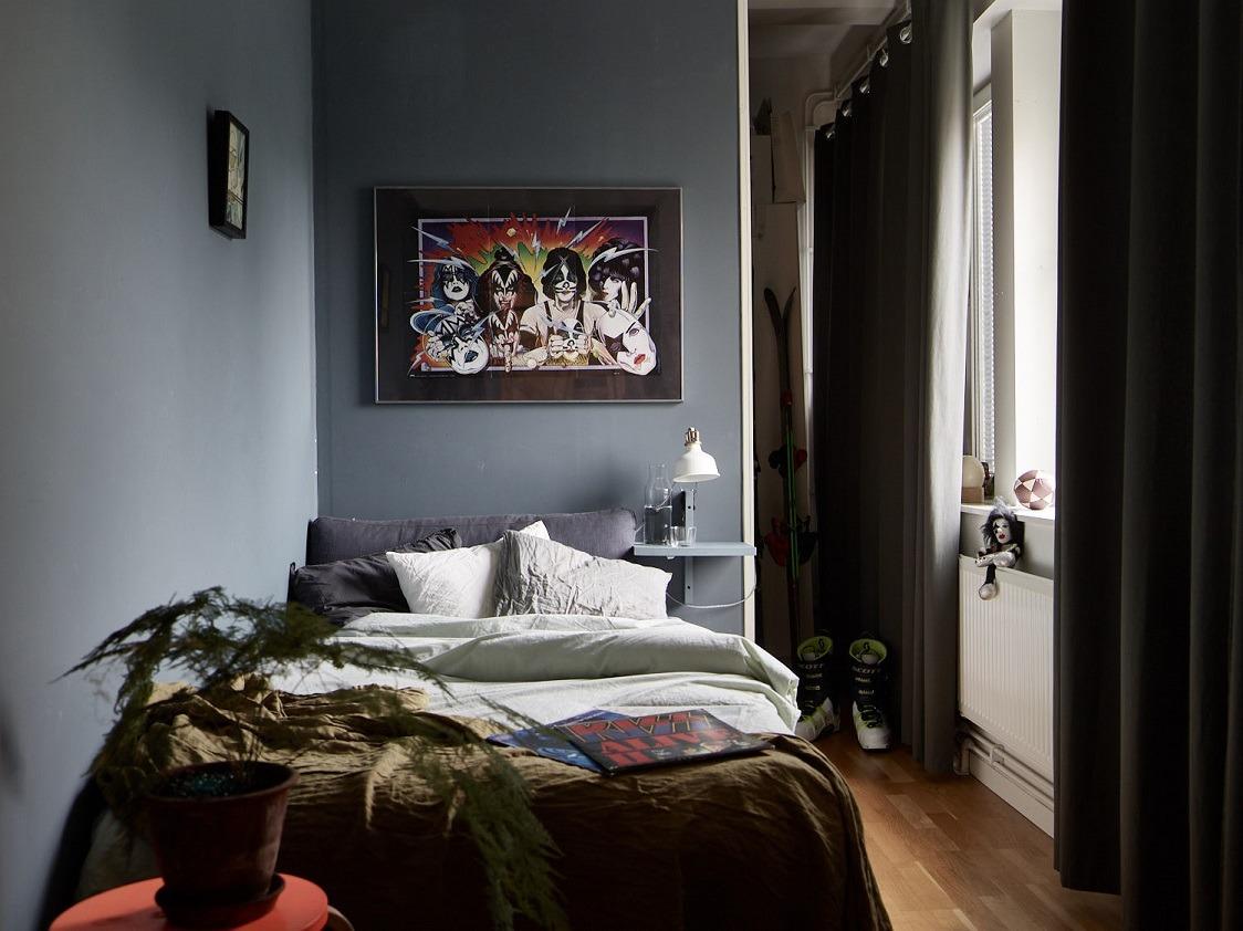 Come arredare una camera da letto piccolagrigia