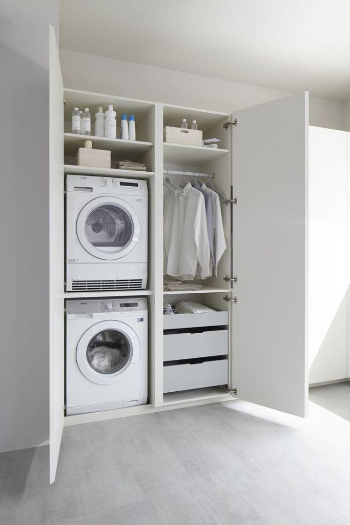 armadio lavanderia a due ante