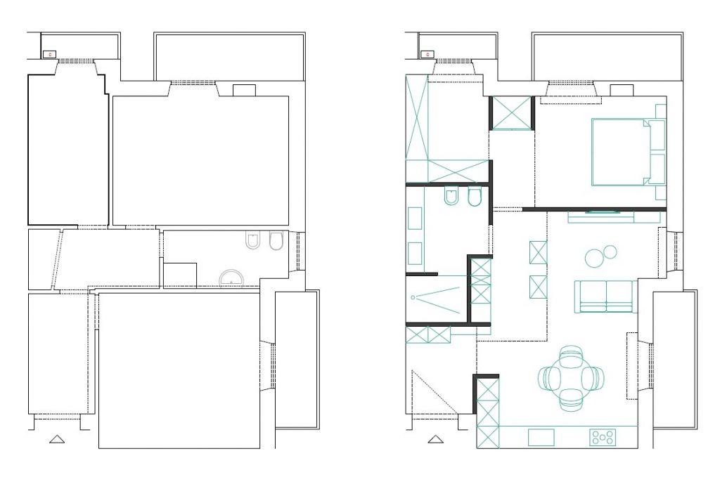 Dividere un appartamento senza muri