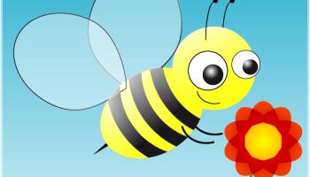 Biene gezeichnet