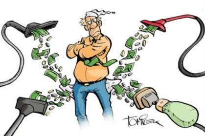 Der Steuerzahler wird ausgesaugt