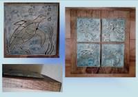 Turquoise Blue Ocean Sea Creatures Ceramic Tile Wall Art ...