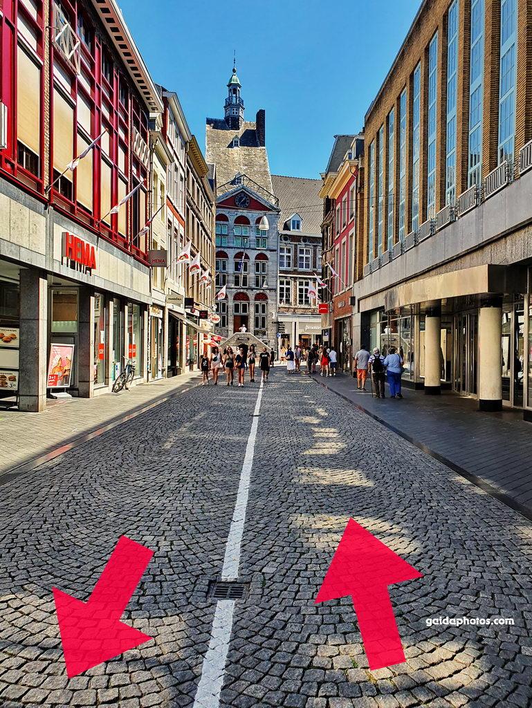 Maastricht, Corona, Einbahnstraße