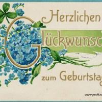 20 Geburtstagskarten aus der guten alten Zeit