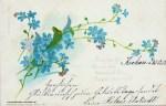 Grusskarte 1902 mit Vergissmeinicht