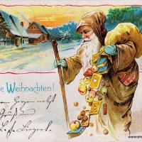 Weihnachtskarten mit Kindern und Weihnachtsmann