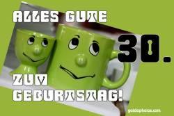 Karte 30. Geburtstag Augen rollen