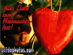 Kostenlose Ecards zu Weihnachten, Herz