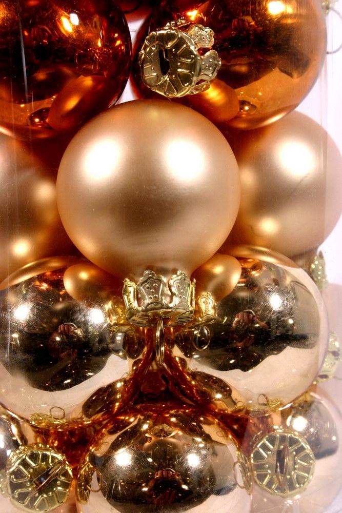 Christbaumkugeln kupfer, gold, silber