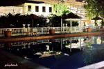 Italien, Emilia Romagna, Riccione, Grand-Hotel Pool bei Nacht