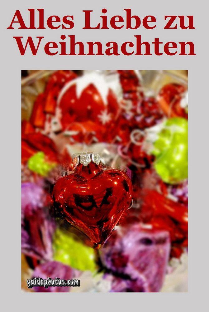 Weihnachtskarte mit Herz