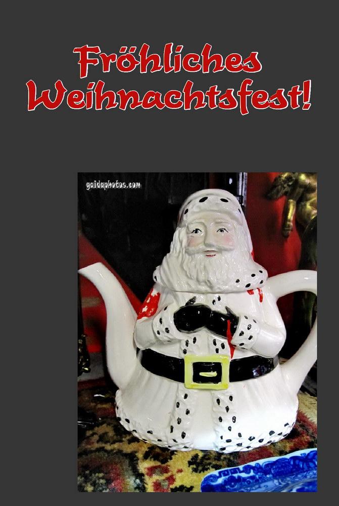 """Weihnachtskarte """"Fröhliches Weihnachtsfest"""" mit Weihnachtsmann"""