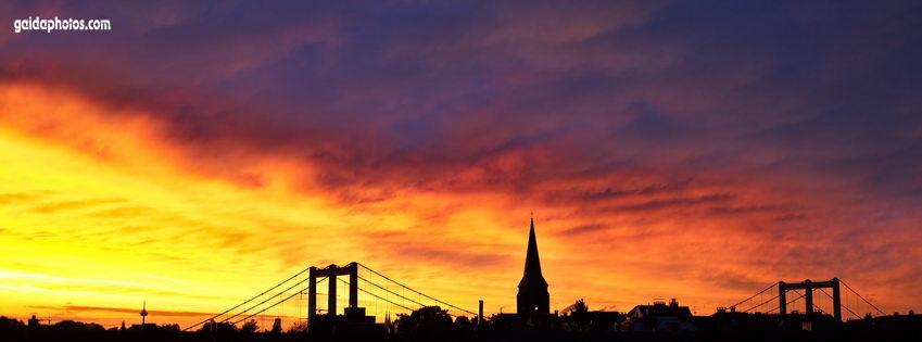 Facebook Titelbild Rodenkirchen Sonnenuntergang