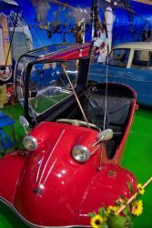 Oldtimer-alte-Autos-Kabinenroller