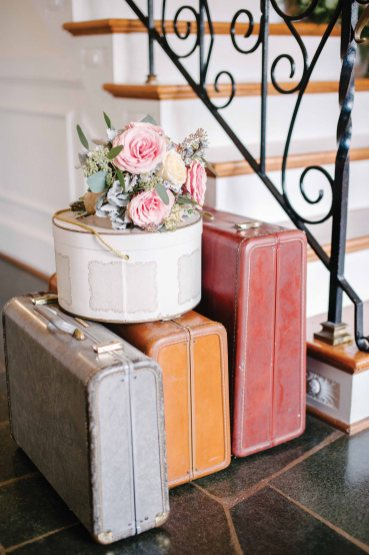 Luggage by the stairs