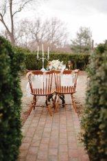 The bride and groom table at Gaie Lea wedding venue in Staunton, VA