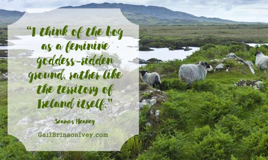 """I think of the bog as a feminine goddess-ridden ground, rather like the territory of Ireland itself."" - Seamus Heaney"