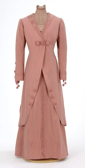 Edwardian Pink Wool Traveling Suit
