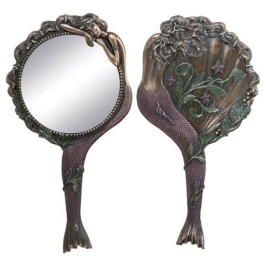 Edwardian makeup mermaid mirror