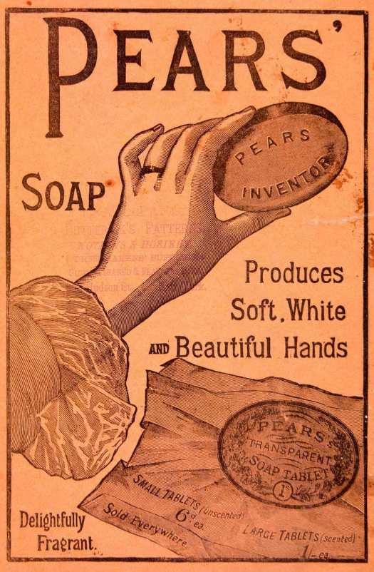 Edwardian makeup - Pears' Soap