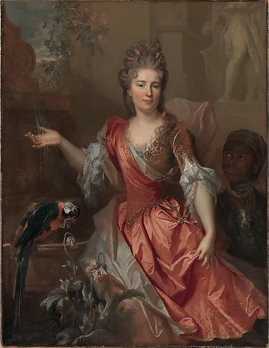 "Nicolas de Largillierre, ""Portrait of a Woman,"" 1696, oil on canvas, 55 x 42 in, Metropolitan Museum of Art, New York"