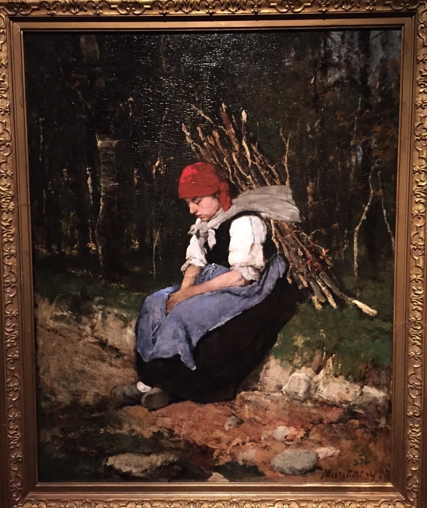 "Mihály Munkácsy, ""Woman Carrying Brushwood,"" 1873, oil on wood, 41 x 31 1/2 in (99 x 80 cm), Hungarian National Gallery, Budapest"