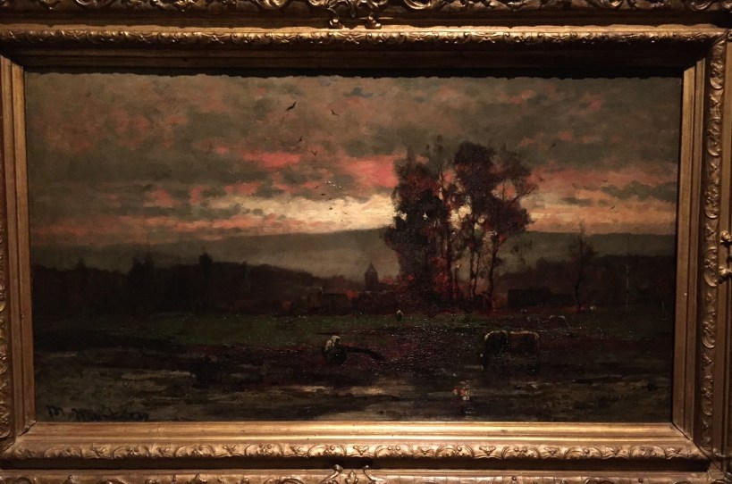 "Mihály Munkácsy, ""Landscape At Dusk,"" 1882, oil on wood, size unknown at this point, Hungarian National Gallery, Budapest"