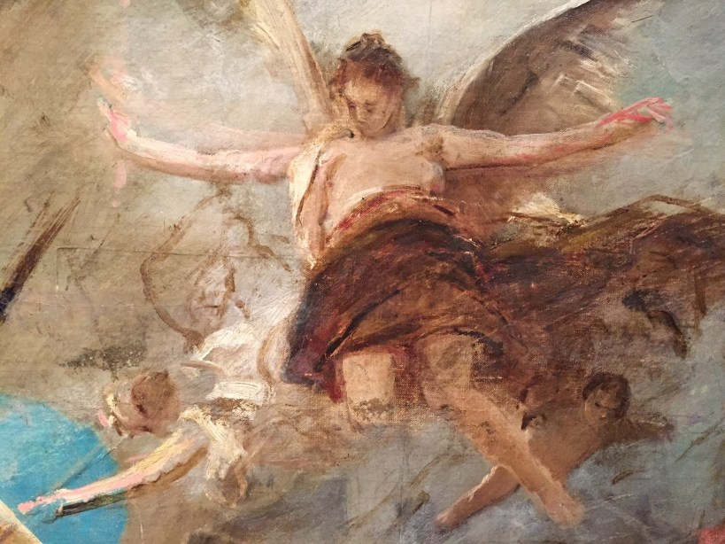 "Mihály Munkácsy, ""The Apotheosis of the Renaissance (study for the ceiling decoration of the Kunst-historisches Museum in Vienna),"" 1886-1888, oil on canvas?, size unknown at this time, Hungarian National Gallery, Budapest-detail"