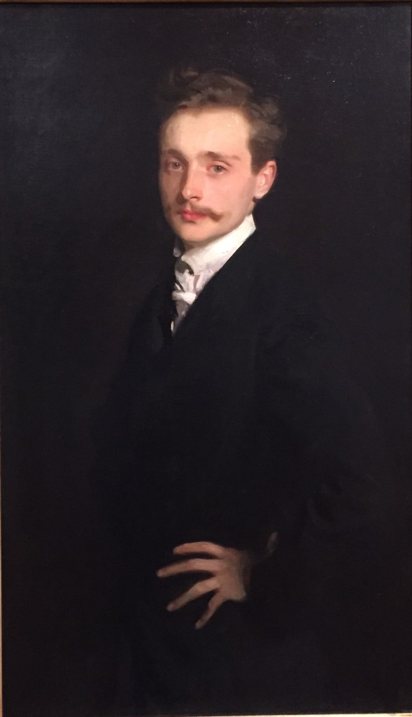 "Hands in Paintings (SAM): John Singer Sargent, ""Léon Delafosse,"" ca.1895-98, oil on canvas, 39 3/4 x 23 3/8 in (101 x 59.4 cm), Seattle Art Museum"