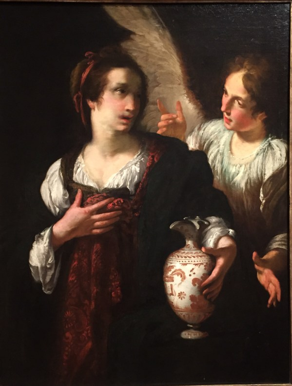 Hands in Paintings (SAM): Bernardo Strozzi, Hagar and the Angel, soon after 1630, oil on canvas, 48 7/8 x 37 in (124.14 x 93.98 cm), Seattle Art Museum