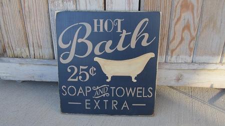 Primitive Hot Bath Soap and Towels Extra Bathroom Hand