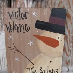 Wooden Kitchen Cart Ikea Freestanding Primitive Personalized Snowman Sign