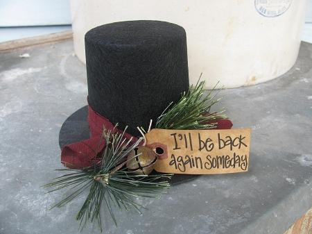 kitchen signs for home kidkraft sets primitive black felt i'll be back again someday frosty's ...