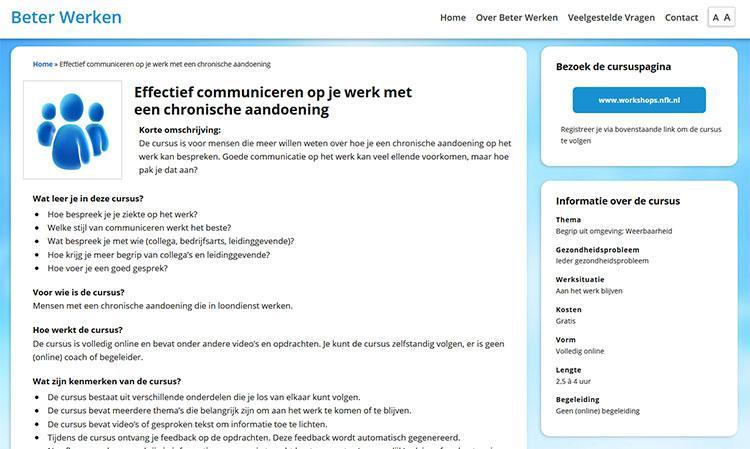 Beter Werken Website