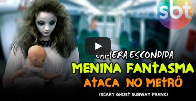Video: Niña fantasmagórica espanta a usuarios del Metro de Brasil