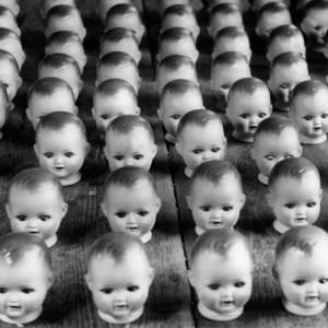 Germany Thueringen Land Sonneberg toys, manufacturing dolls, puppet heads  - 1944 - Photographer: Usa Borchert  - Published by: 'Berliner Illustrirte Zeitung' 44/1944  Vintage property of ullstein bil