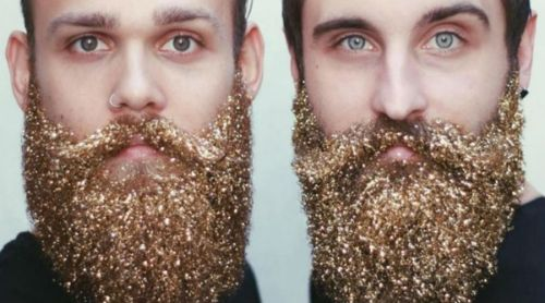 Barba con brillitos, lo último en moda para caballeros