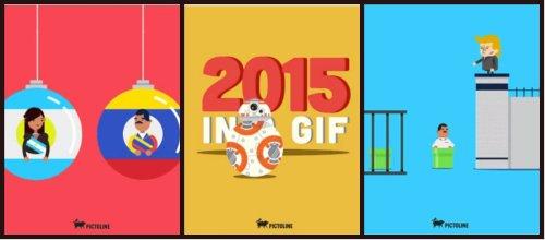 Resumen del 2015 en un gif animado y divertido