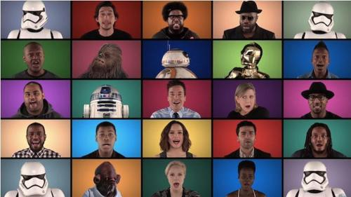Video: Los actores de Star Wars también cantan