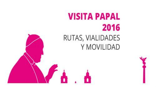 Vialidades cerradas por visita papal en la CDMX