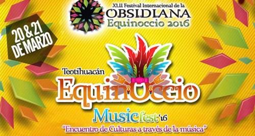 """Listo el cartel para el """"Equinoccio Music Fest 2016"""" en Teotihuacán"""