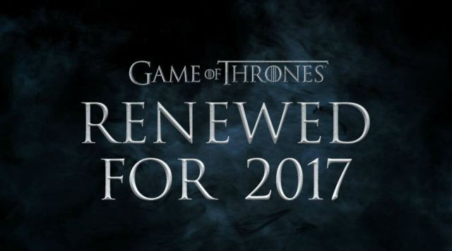 Confirmada séptima temporada de Game of Thrones